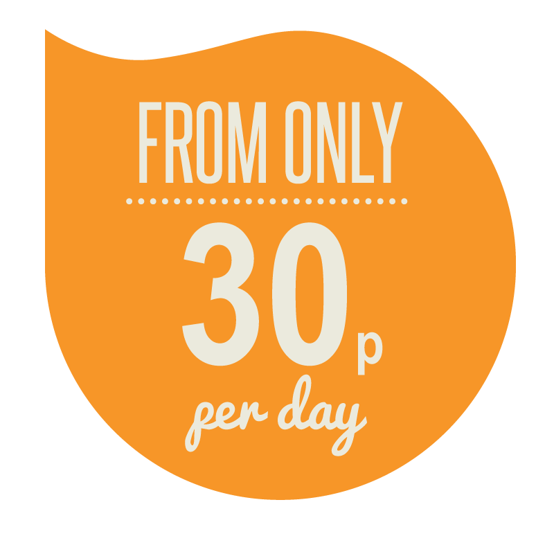 from 30p a day
